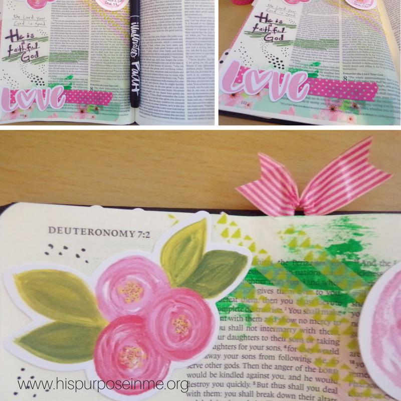Bible Journaling Challenge Deut 7-9