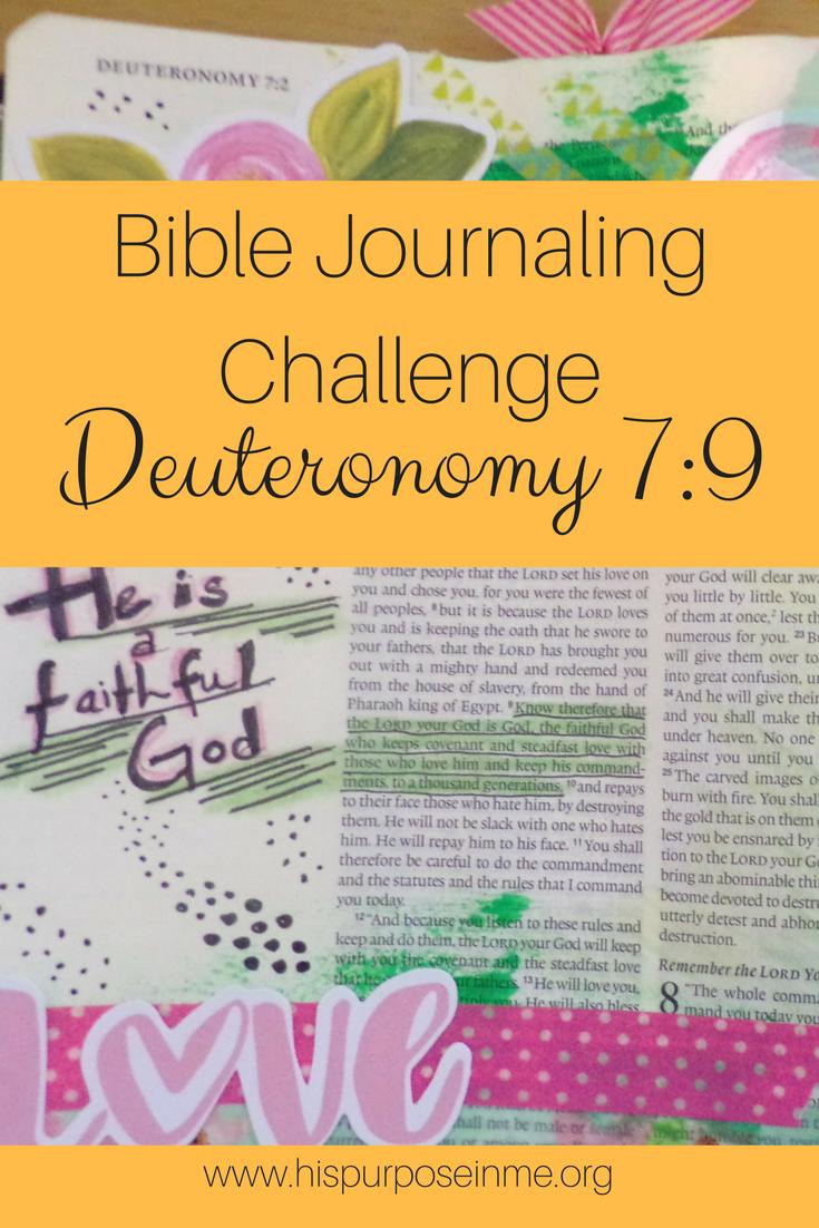 Bible Journaling Challenge Deuteronomy 7-9