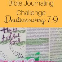 Bible Journaling Challenge - Deuteronomy 7:9