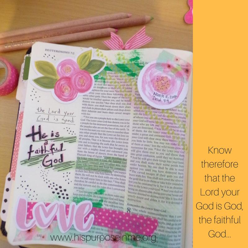 Bible Journaling Challenge Verse