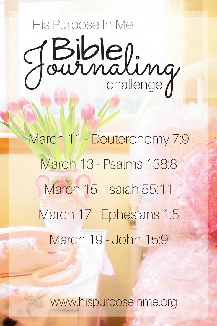 bible journaling challenge week