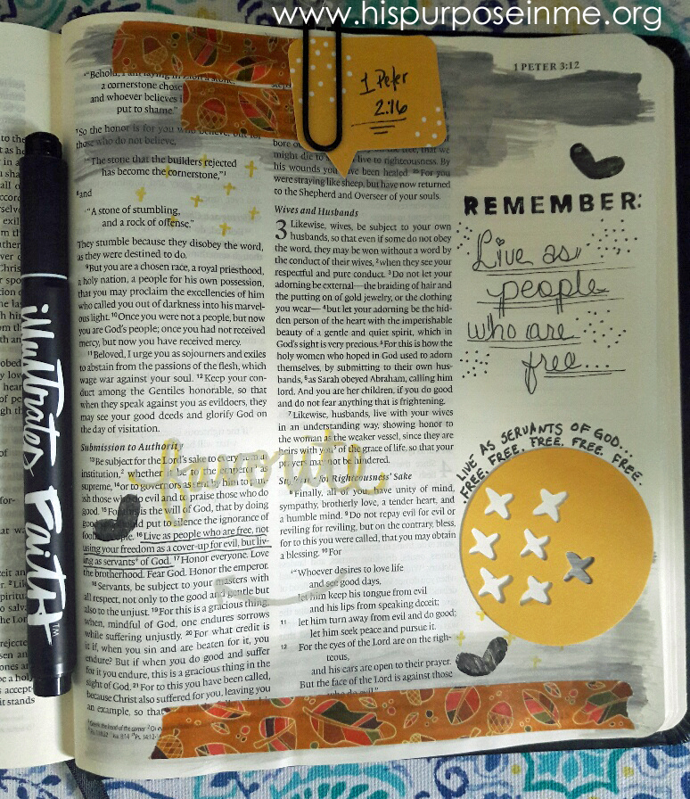 Live Free and Serving God Bible Journaling