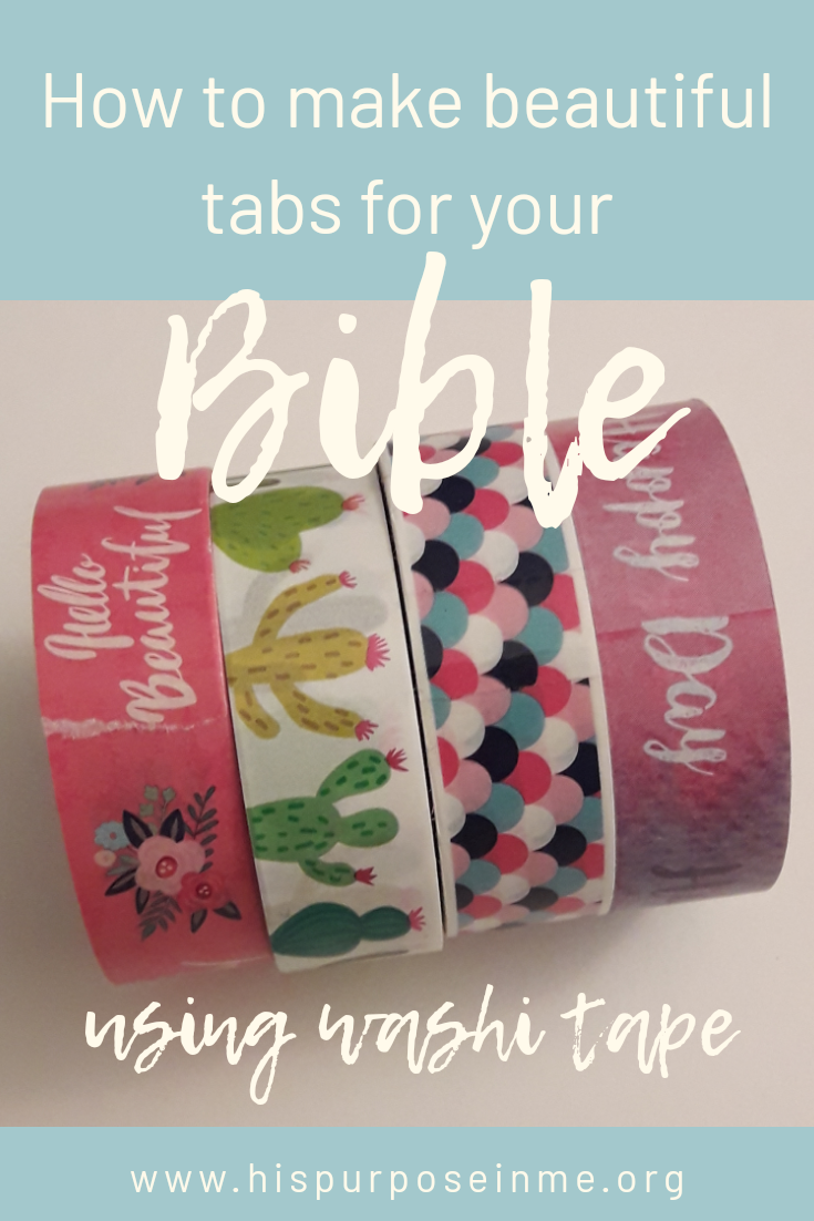 How to make beautiful tabs for your bible using washi tape