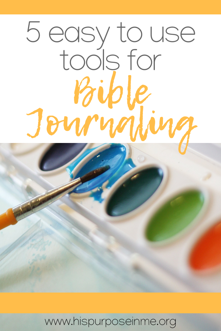 If you are a beginner or you are an expert in bible journaling today you will learn something new or you will be in agreement with me about the easiest tools to use for Bible Journaling.  Bible Journaling is all about creativity while studying the Word of God. Here is a short list of my 5 most easy tools that I've been using these past years. You will be creating a new page in no time with these tools