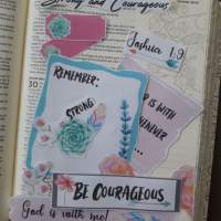 Strong and Courageous Bible Journaling Freebie Printable