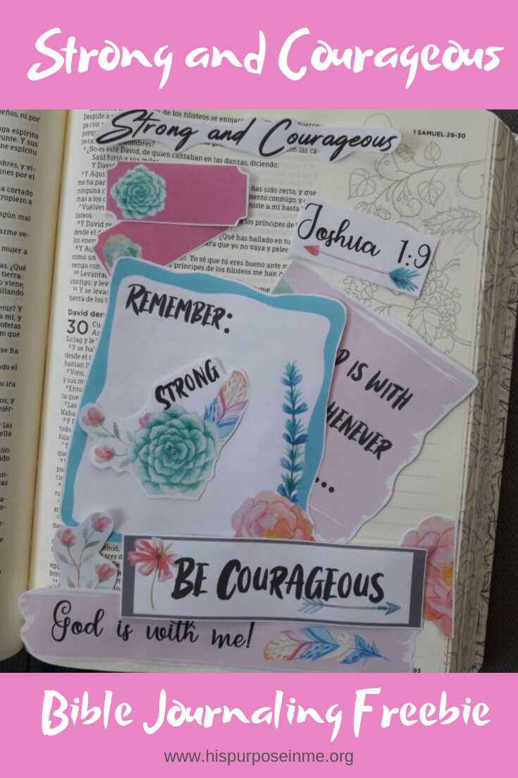 This is one of my favorite bible verses.  Reminds me that God is always with me and that He already gave me strength to do everything. I hope you enjoy this freebie, was made with love... thinking on all those bible journaling lovers who enjoy to study the Word of God.