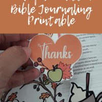 Thankful and Blessed Bible Journaling Printable