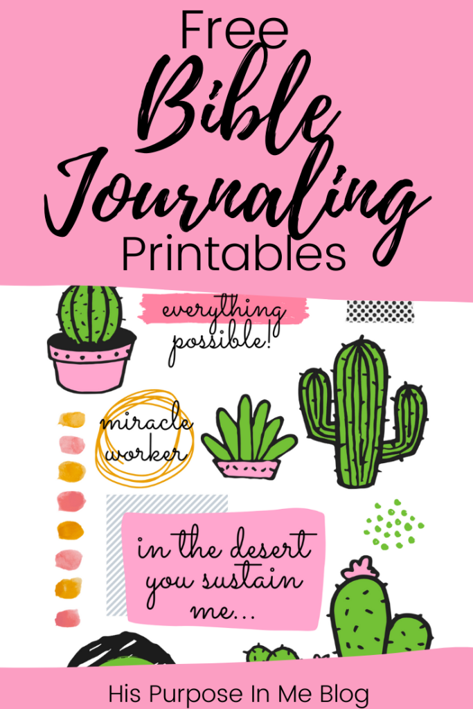 Get these beautiful bible journaling printables for free! - His Purpose In Me Blog